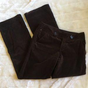 Eddie Bauer velvet trousers